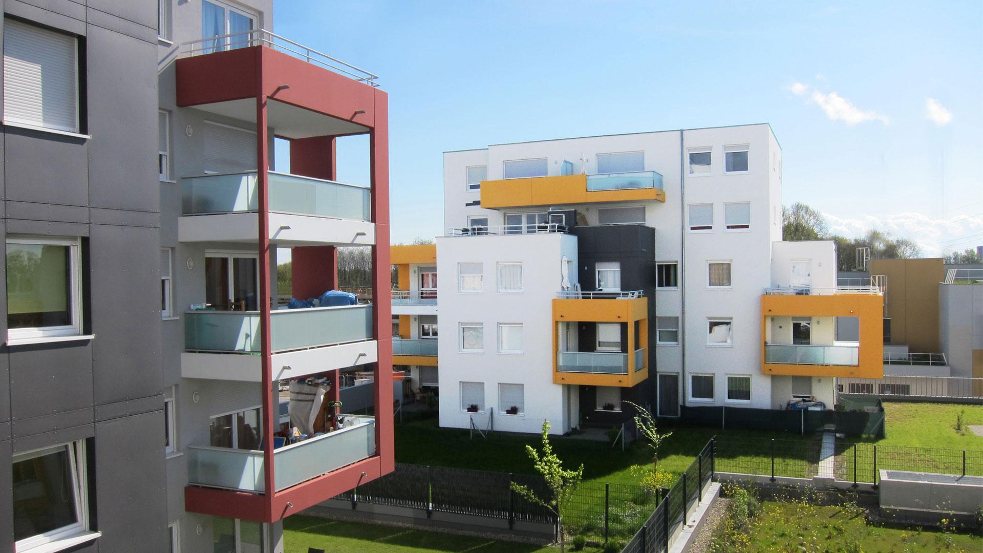 logements Habitat de l'Ill à Lingolsheim - photo PSA