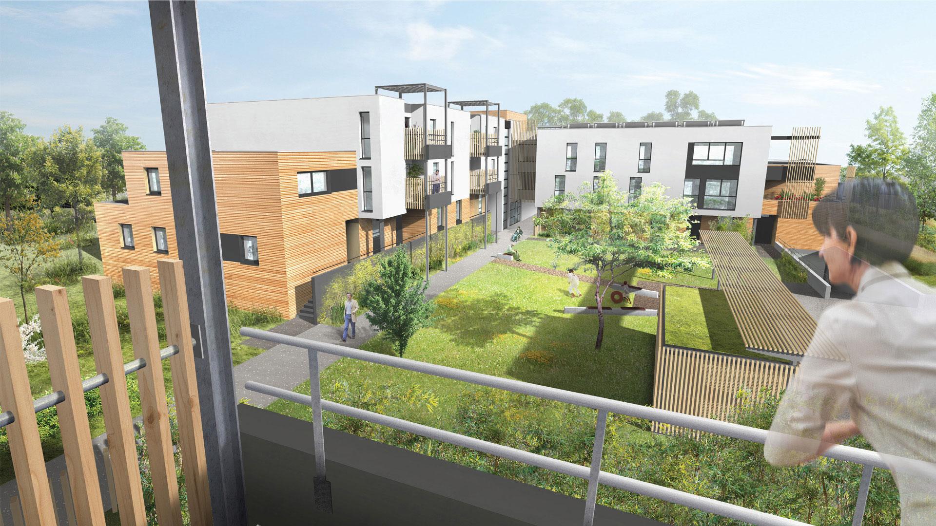 logements CUS Habitat à Lingolsheim - photo L.Matagne