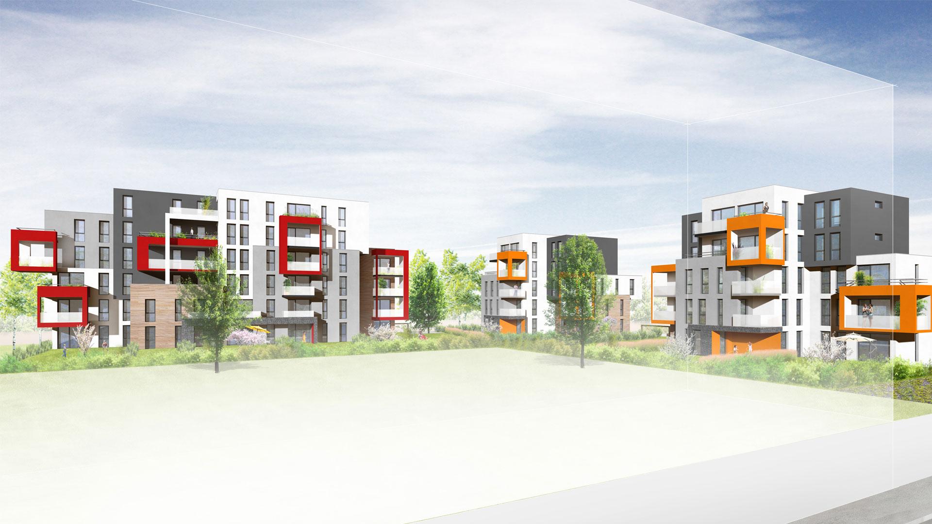logements Habitat de l'Ill à Lingolsheim - document L. Matagne