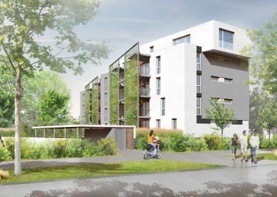 logements ICADE à la Meinau - document L.Matagne