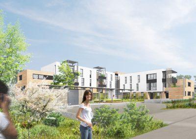 logements CUS Habitat à Lingolsheim - document L. Matagne