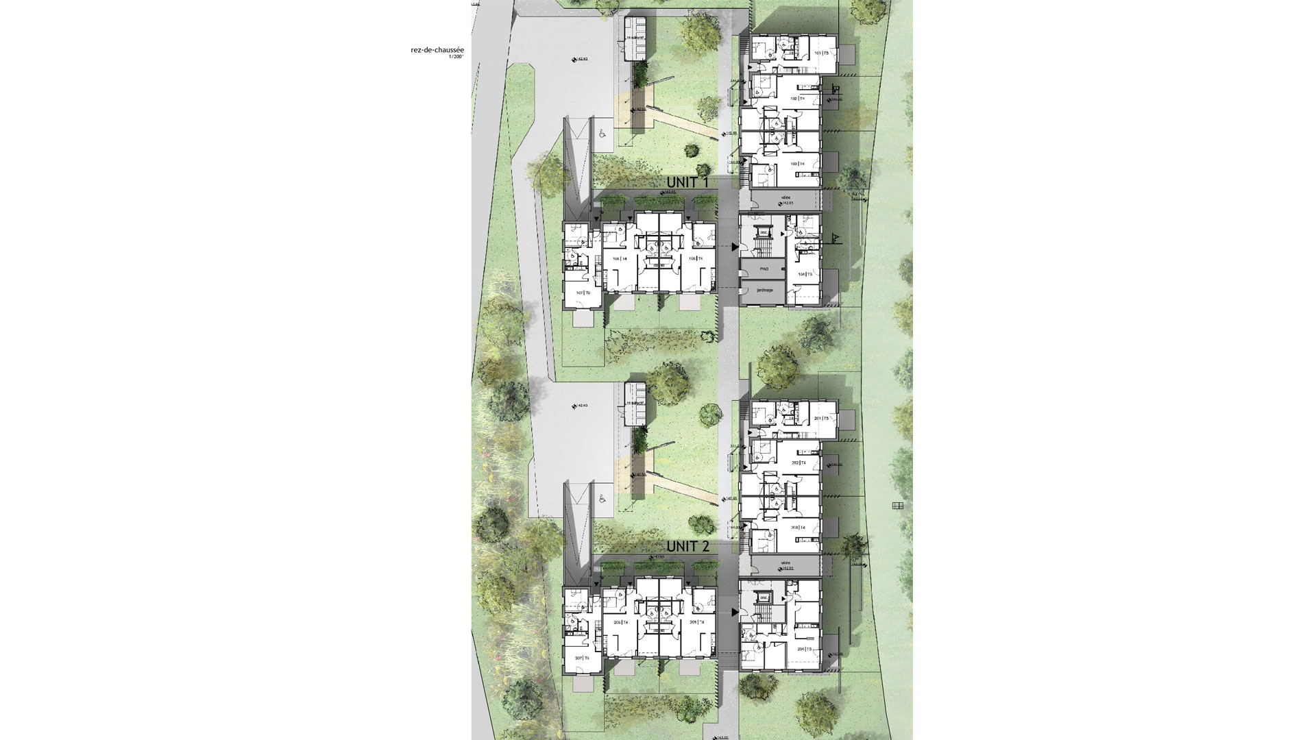 logements CUS Habitat à Lingolsheim - document PSA