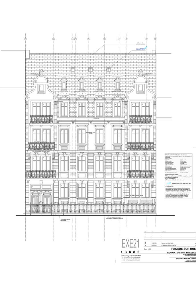 restaurations dans le quartier historique de la Neue Stadt à Strasbourg - document PSA