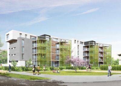 logements ICADE à la Meinau - document L. Matagne