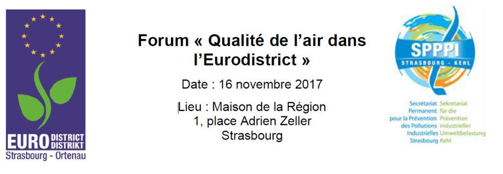 Forum Qualité de l'air de l'Eurodistrict