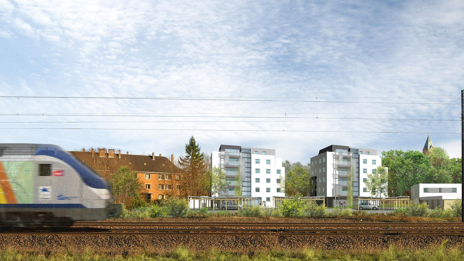 logements ICF Nord-Est à Koenigshoffen - document L.Matagne