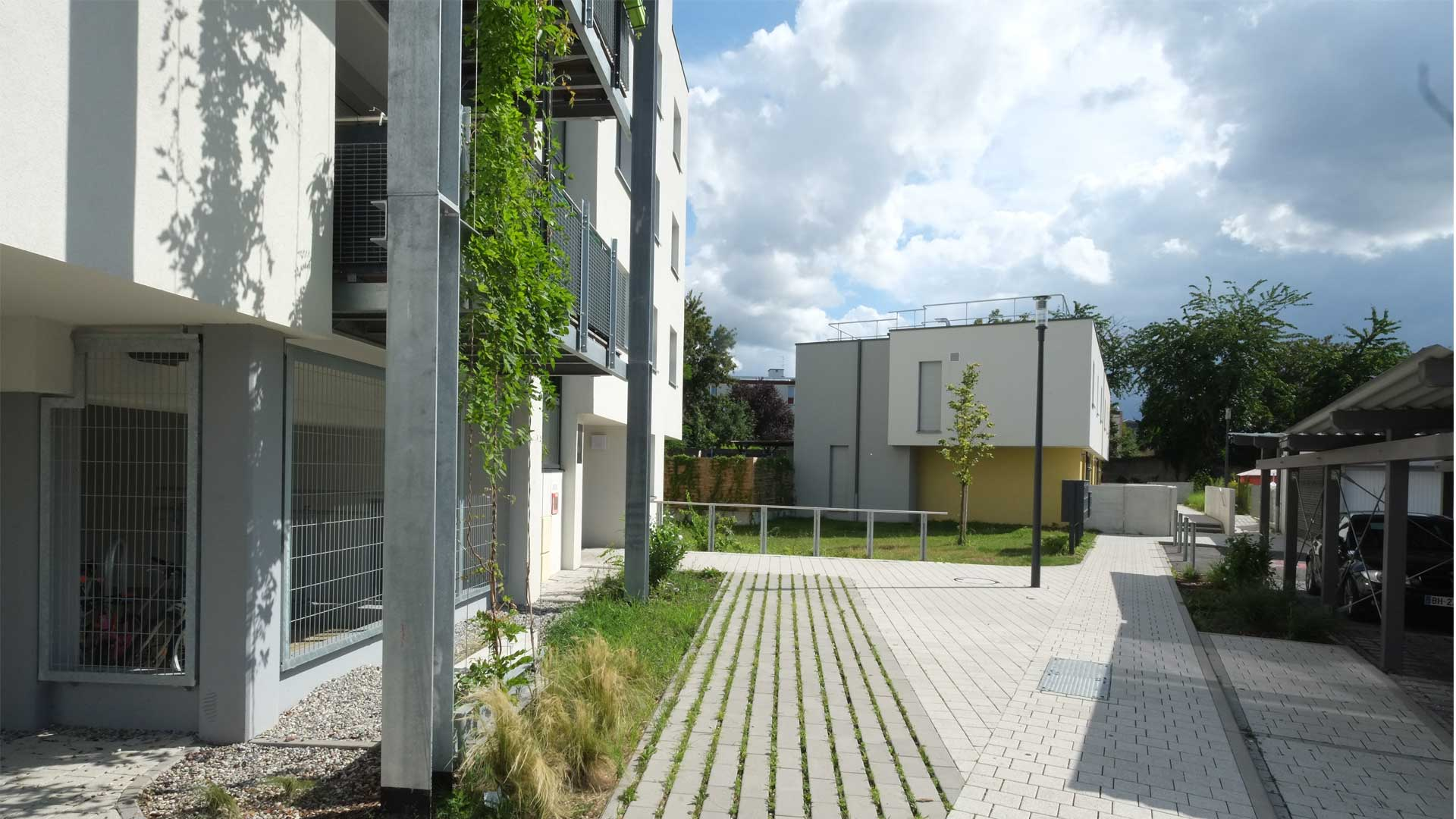 qualité environnementale logement ICF à Koenigshoffen - photo PSA