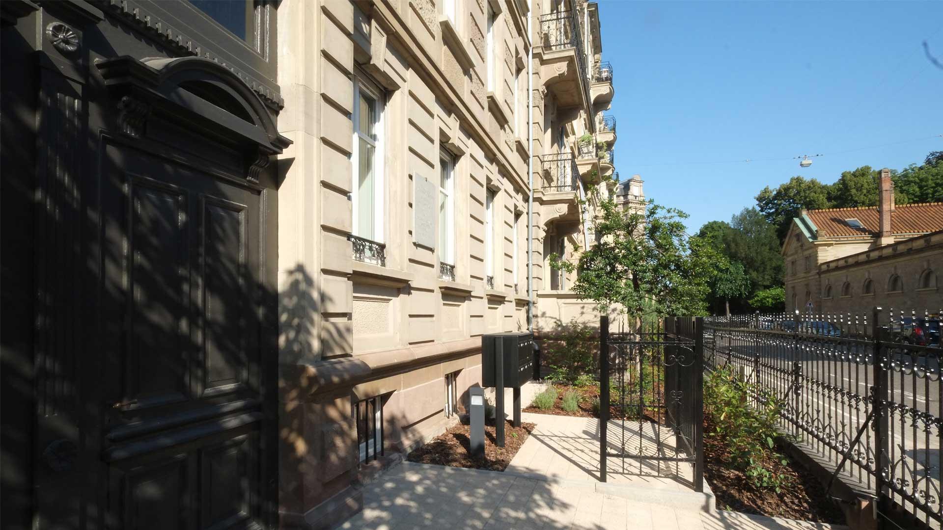 restaurations dans le quartier historique de la Neue Stadt à Strasbourg - photo PSA