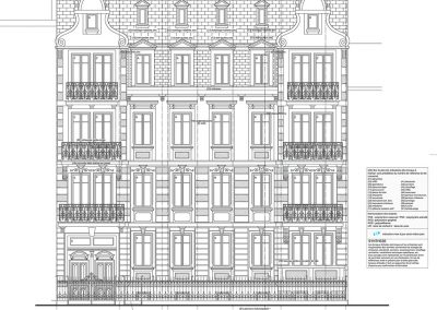 Restauration d'immeuble de la Neue-Stadt à Strasbourg - Oeuvre Notre Dame - document PSA