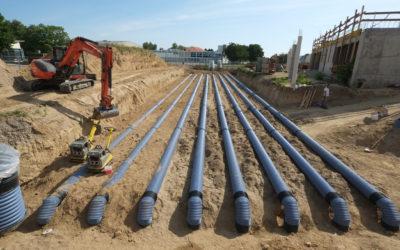 Le puits canadien apporte l'air frais à Geispolsheim (Article le Moniteur 27/09/2019)