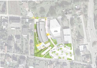 Ecoles maternelle et primaire à Mittelhausbergen Plan Sigwalt architecture